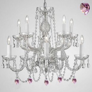 plug in chandelier kenny 10-light crystal chandelier AZDZSEW