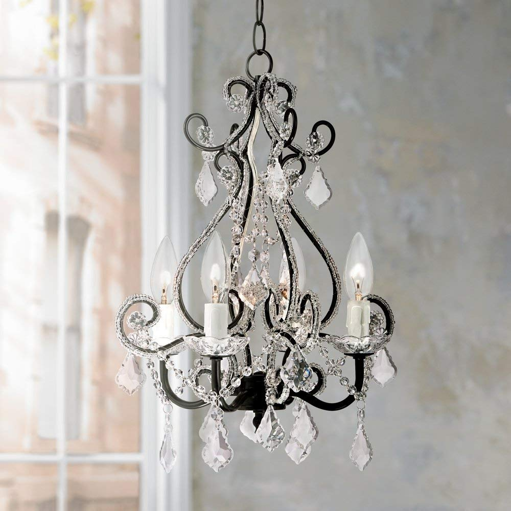plug in chandelier leila black clear swag plug-in chandelier YCCNDHK