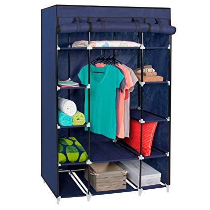portable closet best choice products 13-shelf portable fabric closet wardrobe storage  organizer IUOMBRW