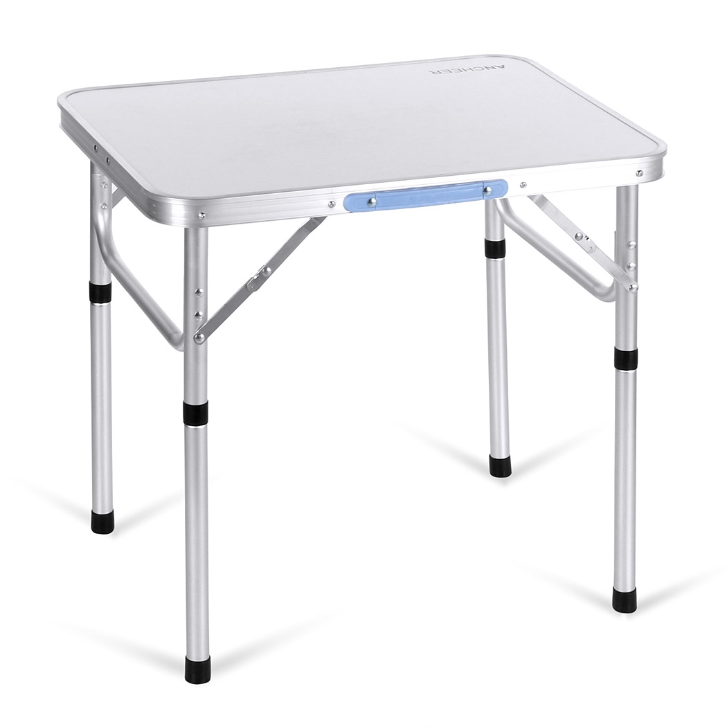 portable folding table ancheer 2ft aluminum portable folding utility table with carrying handle CZKCQZE