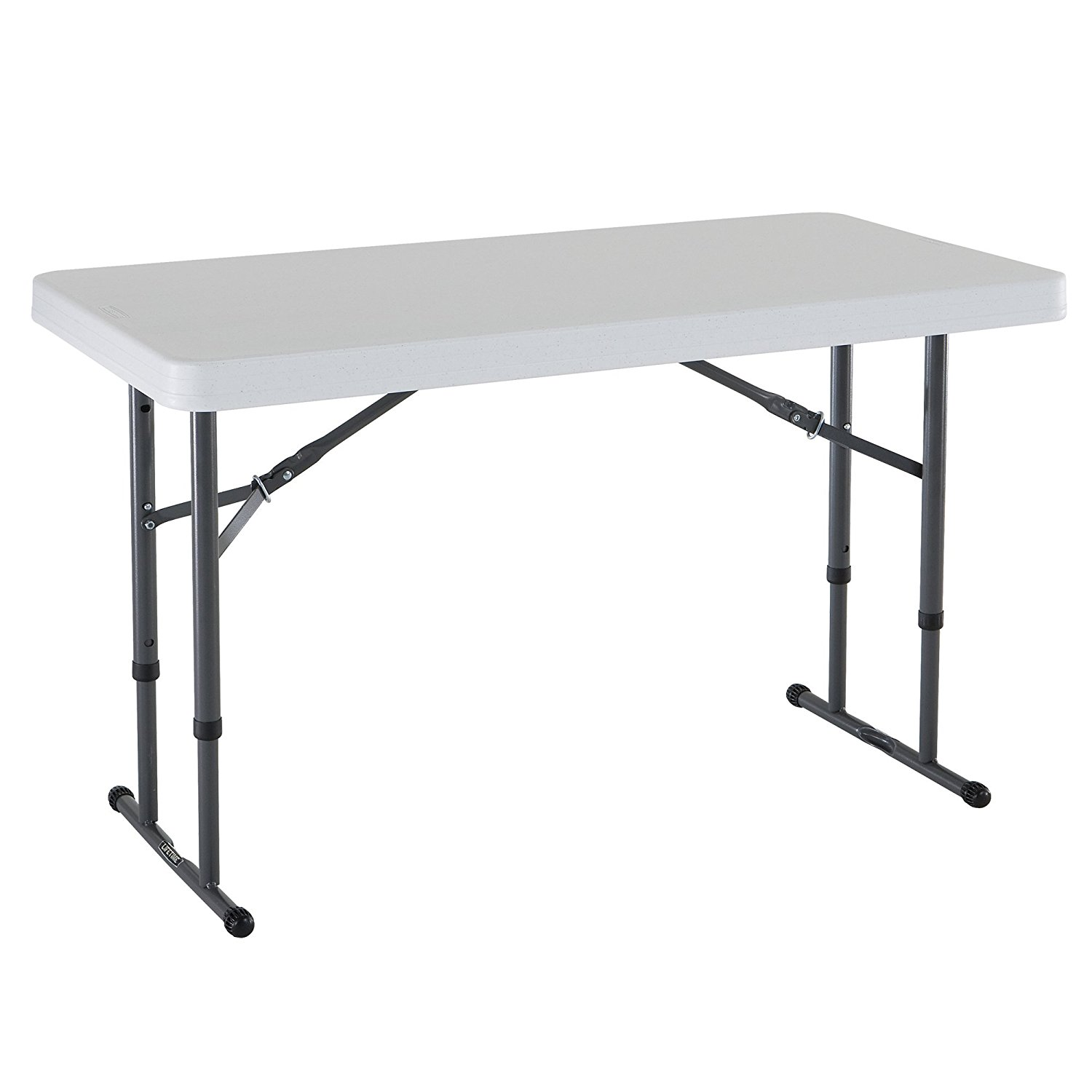 portable folding table lifetime 4u0027 adjustable folding table, white granite, 80160 UFTFDOL