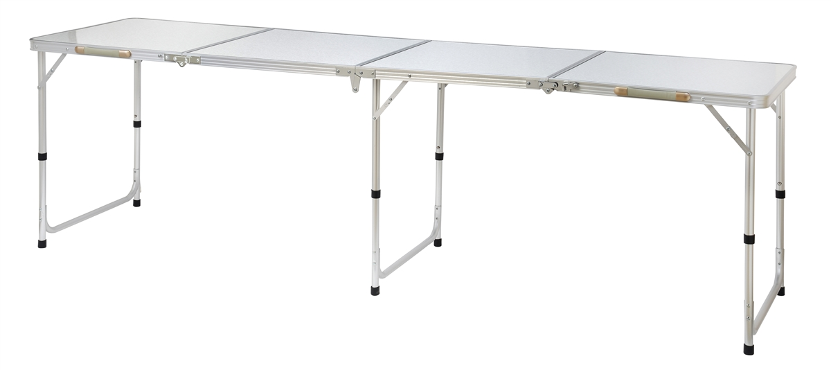 portable folding table portable adjustable lightweight quad size aluminum folding table by  trademark DPLJFOT