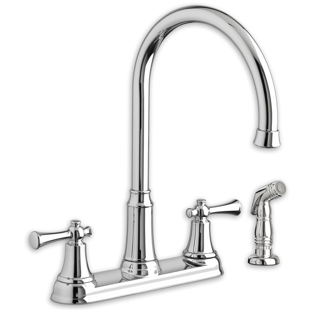 portsmouth 2-handle high-arc kitchen faucet with side spray | american CSVLBGW