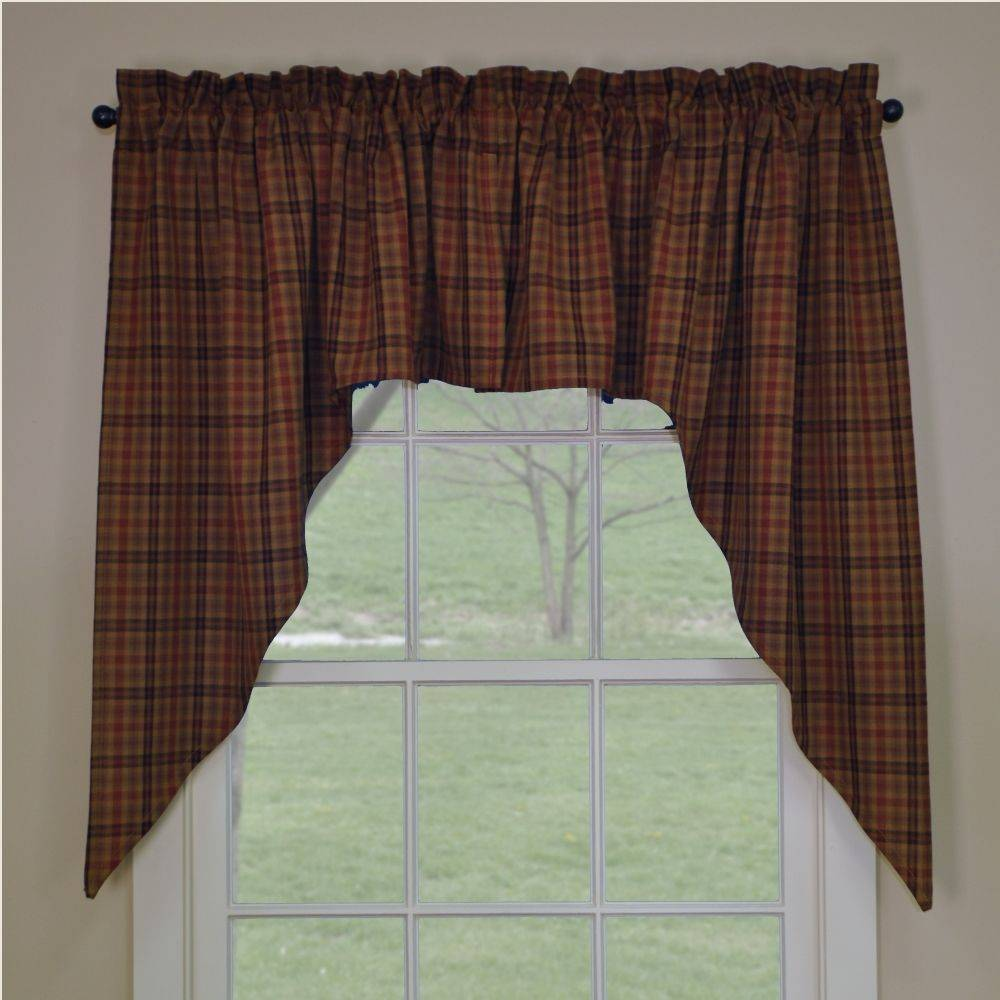 primitive curtains primitive spice swags ZHVHZEP