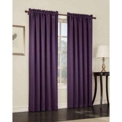 purple curtains gregory room darkening pole top curtain panel YSOSCPA