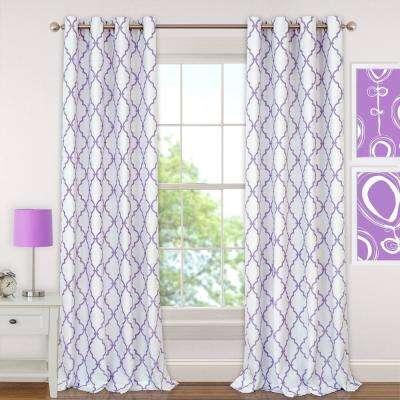 purple curtains l polyester single blackout window curtain panel EAVCQAN