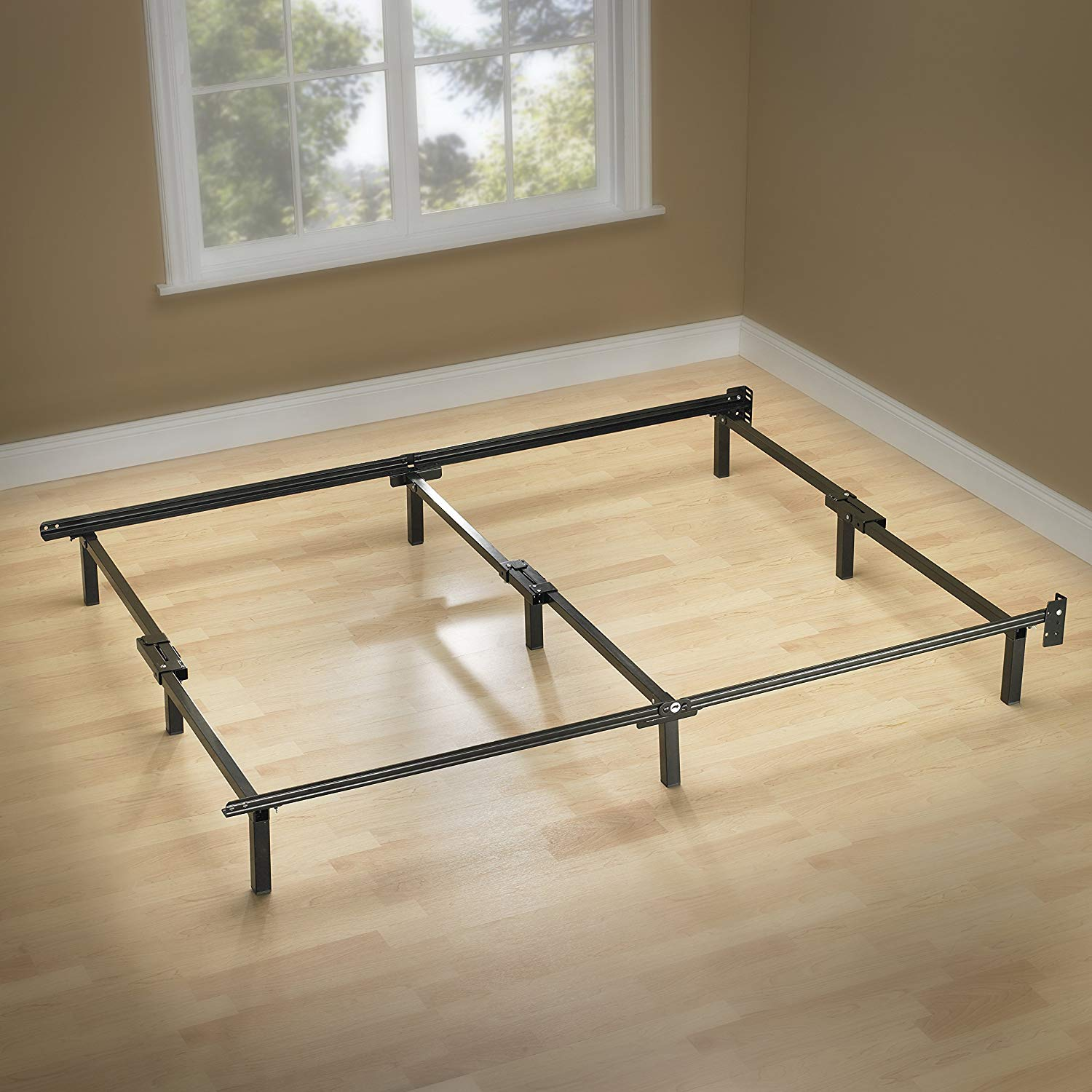 queen bed frame amazon.com: zinus compack 9-leg support bed frame, for box spring u0026 IVBANGK