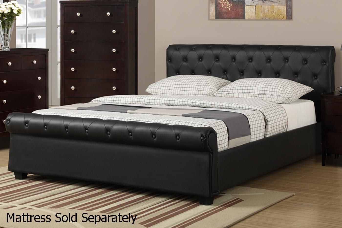 queen size beds black leather bed JDTQOKF