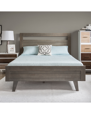 queen size beds carson carrington madrid light charcoal queen-size bed, grey ZSEQLMQ