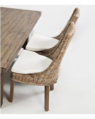 rattan dining chairs jofran hampton road rattan dining chair with cushion (set of 2) YUZPKOV