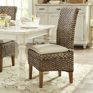 rattan dining chairs woven seagrass side chairs (set of 2) QQAGDVD