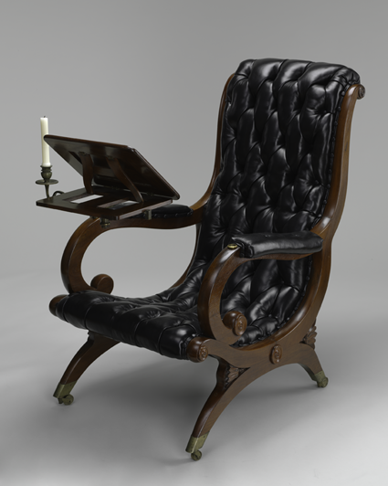 reading chair. c. 1835. the baltimore museum of art: gift of LSHTHIB