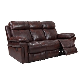 recliner sofa hudson power reclining top grain leather sofa (brown/ blue/ red) (3 CVGUGHW