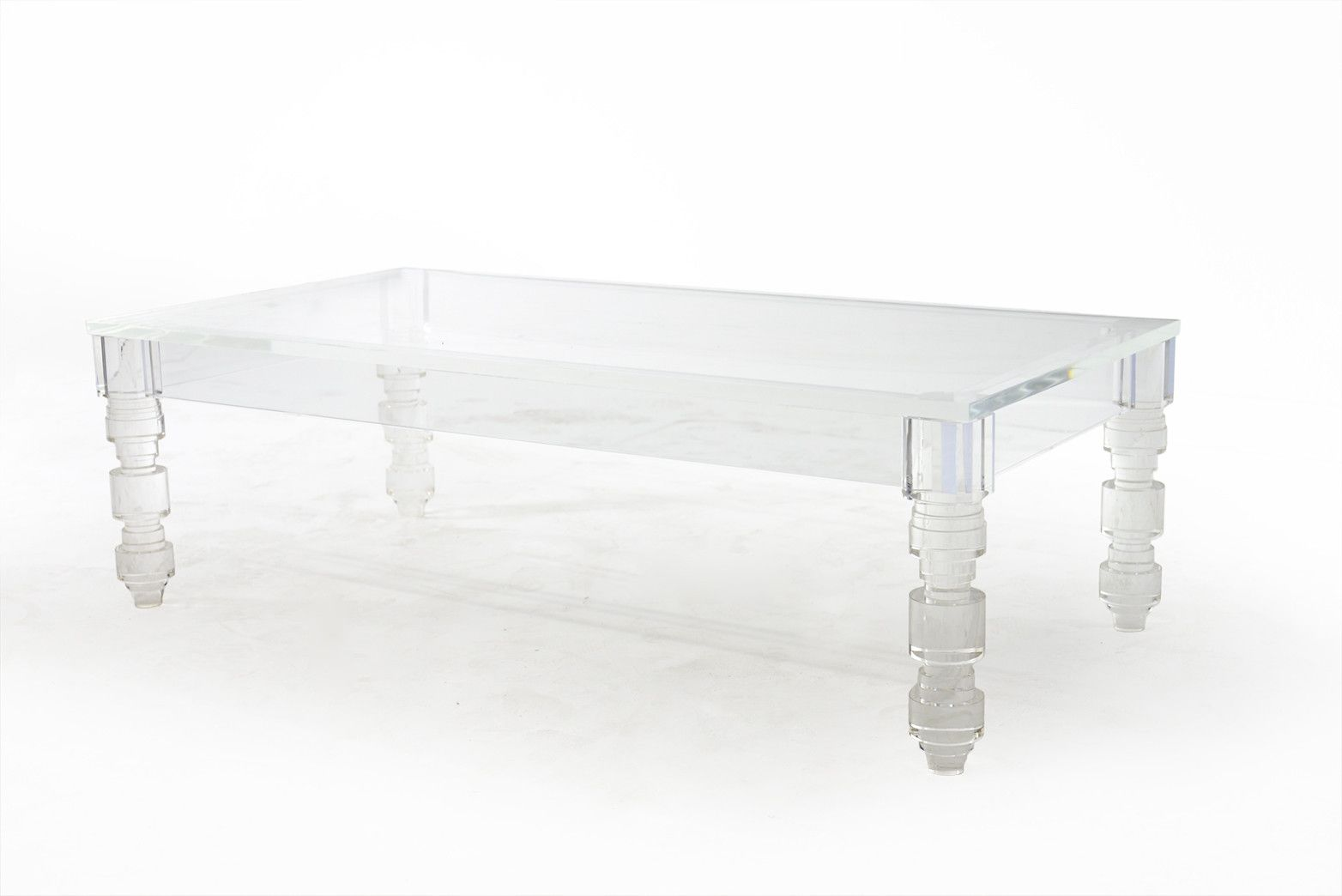 rectangular beverly hills lucite coffee table- #modshop XLKVDMR
