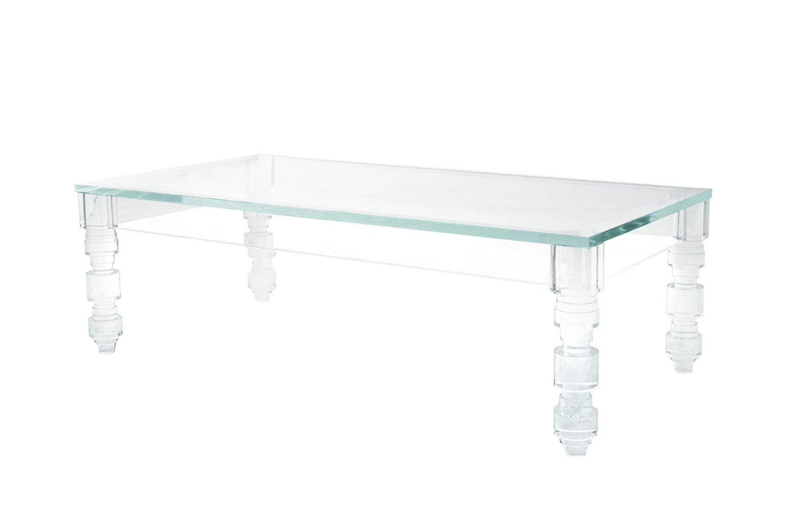 rectangular beverly hills lucite coffee table XPFVRAB