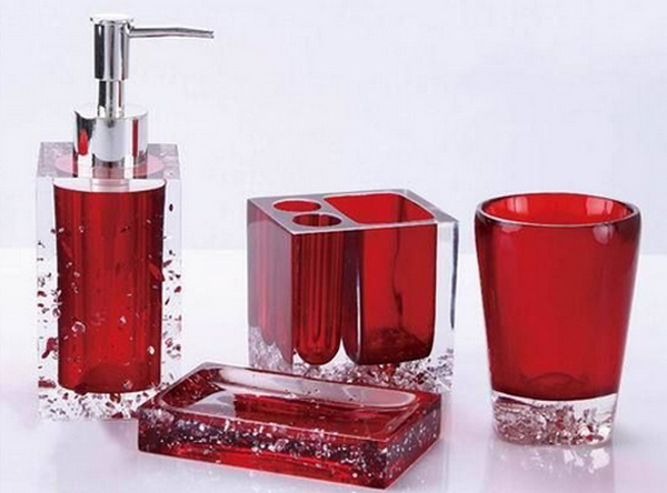 Gentil Red Bathroom Accessories Red Glass Bathroom Accessories. Email; Save Photo.  Glass BEAGZDW