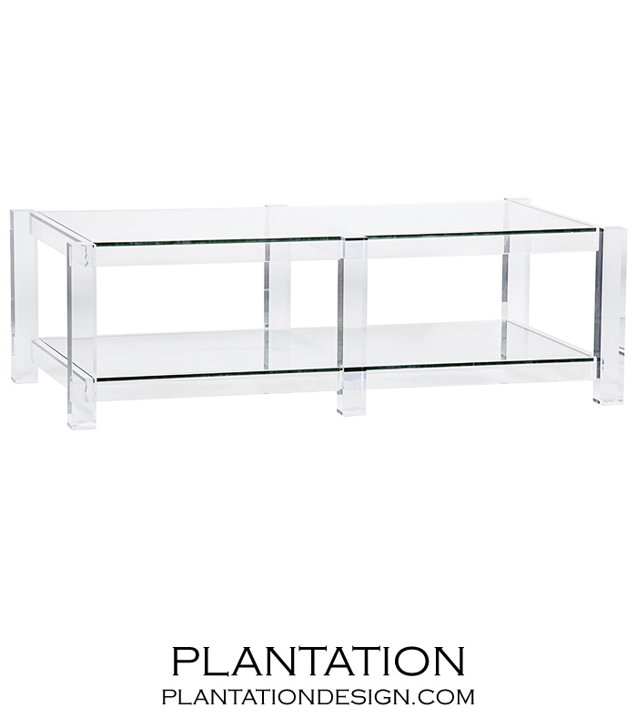 regent lucite coffee table TAKEYWJ