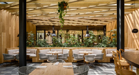 restaurant interior design piedra sal: a modern restaurant in mexico city OKUBUTE