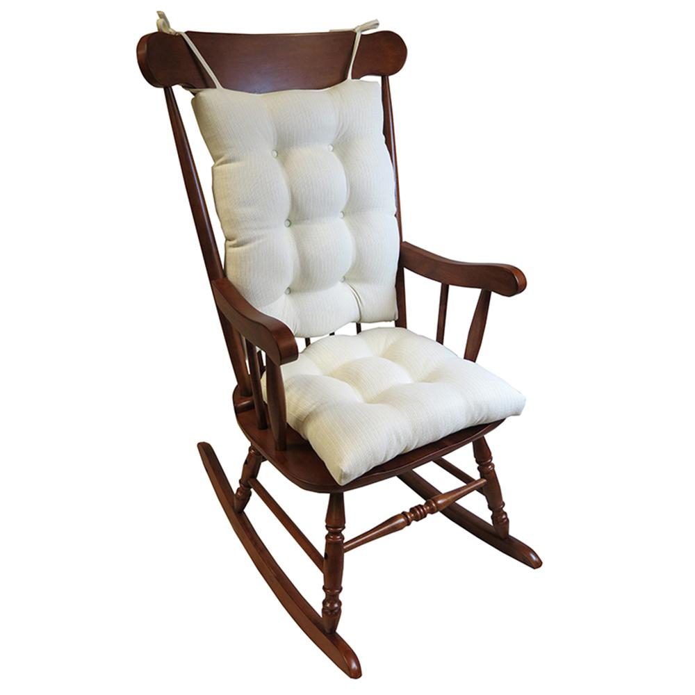 rocking chair cushions gripper omega ivory jumbo rocking chair cushion set STFPDQA