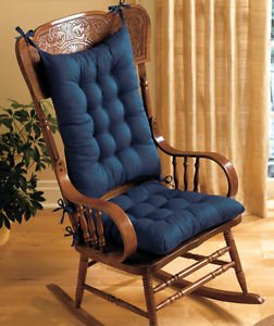 rocking chair cushions padded rocking chair cushion set - blue XLLPWVE