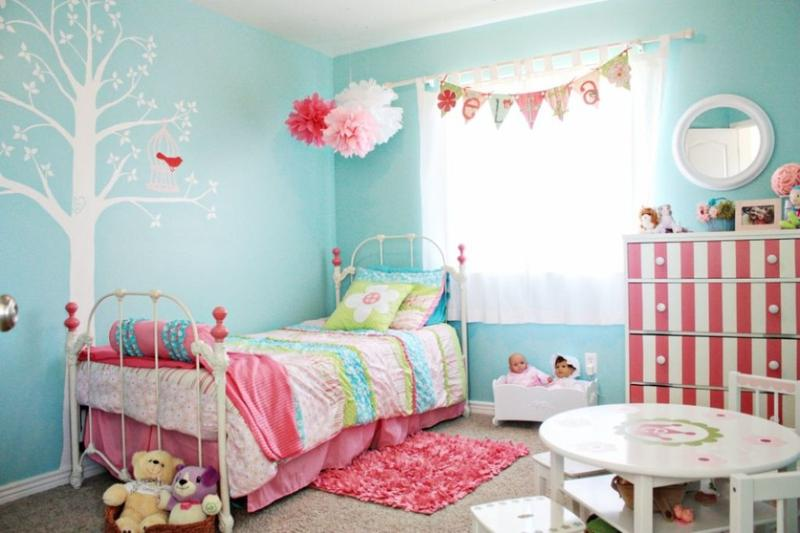 room decorations for girls 15 adorable pink and blue bedroom for girls rilane JSIDJCM