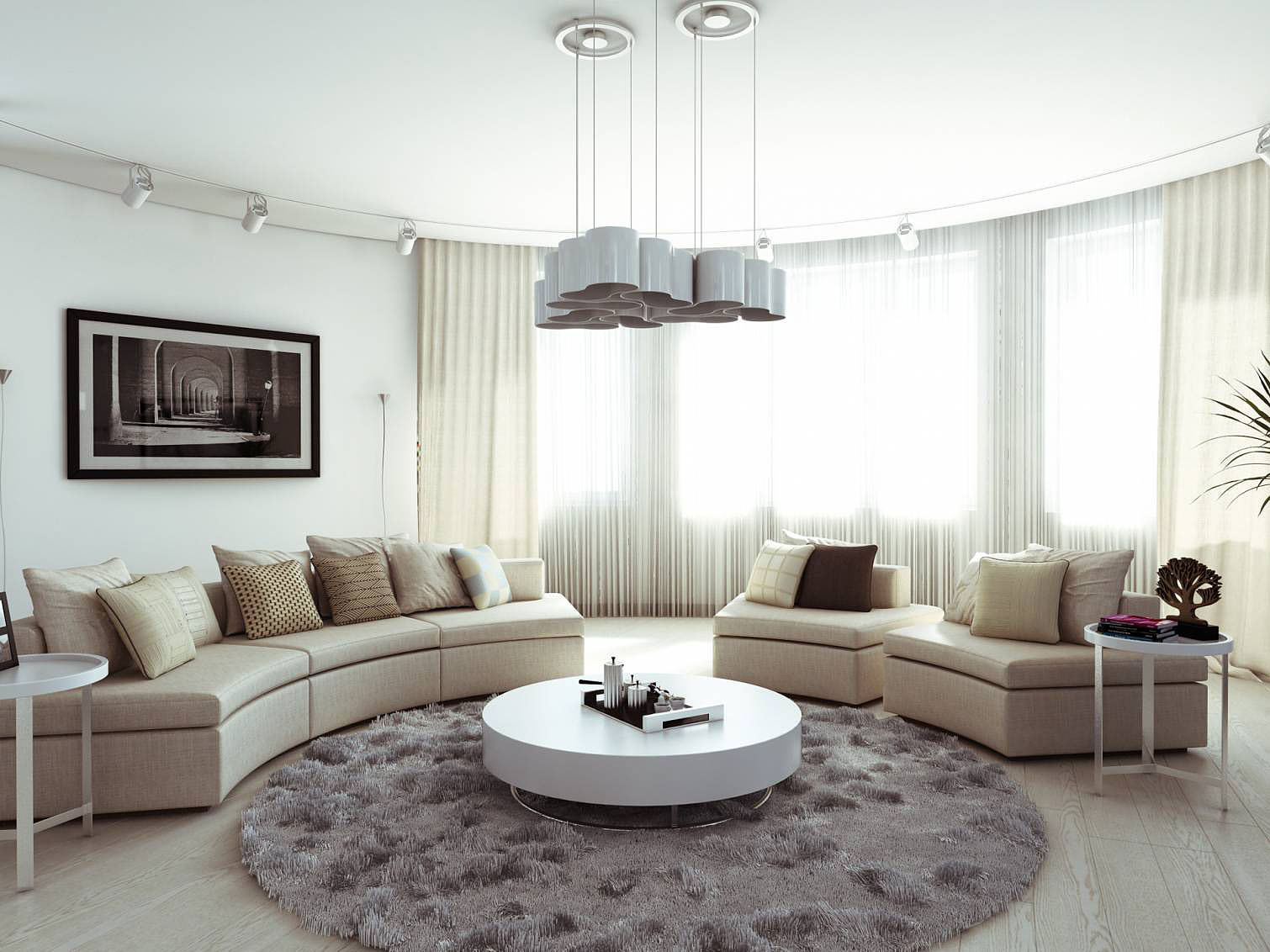 round area rug living room living room area rug for living room mixed with glossy round & Get a comfortable look for Room with round area rug ...