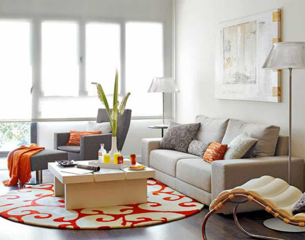 round area rug living room living room with sofa and round area rug : enhance your RNRBHRQ