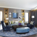 Get a comfortable look for Room with round area rug