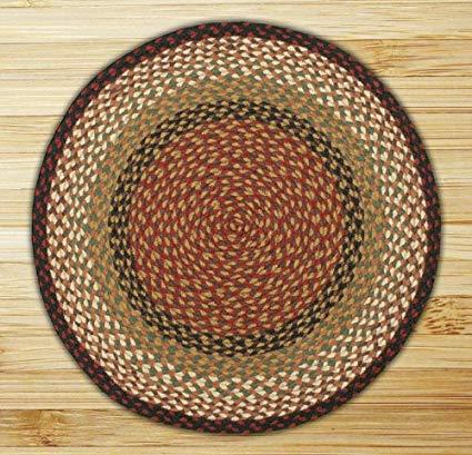 round area rugs earth rugs round area rug, 5.75u0027, burgundy/mustard KCNRVAK