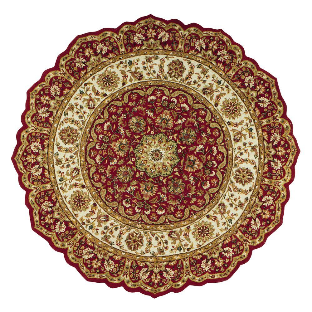 round area rugs home decorators collection masterpiece red 6 ft. round area rug TKMFDUN