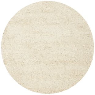 round area rugs mckeehan shag and flokati ivory area rug XAMLHRY