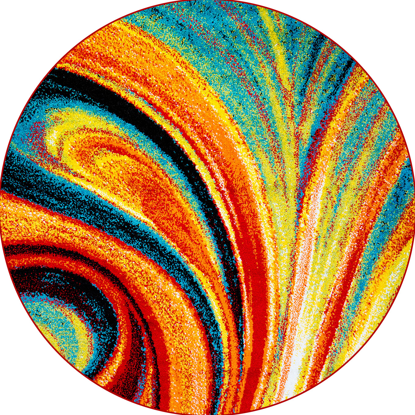 round area rugs multi-color swirls round area rug 8x8 abstract carpet - actual 7u0027 OWDFLBE