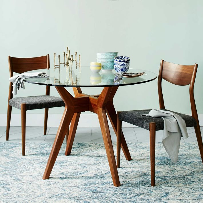 round dining table jensen round glass dining table | west elm KDSELBI