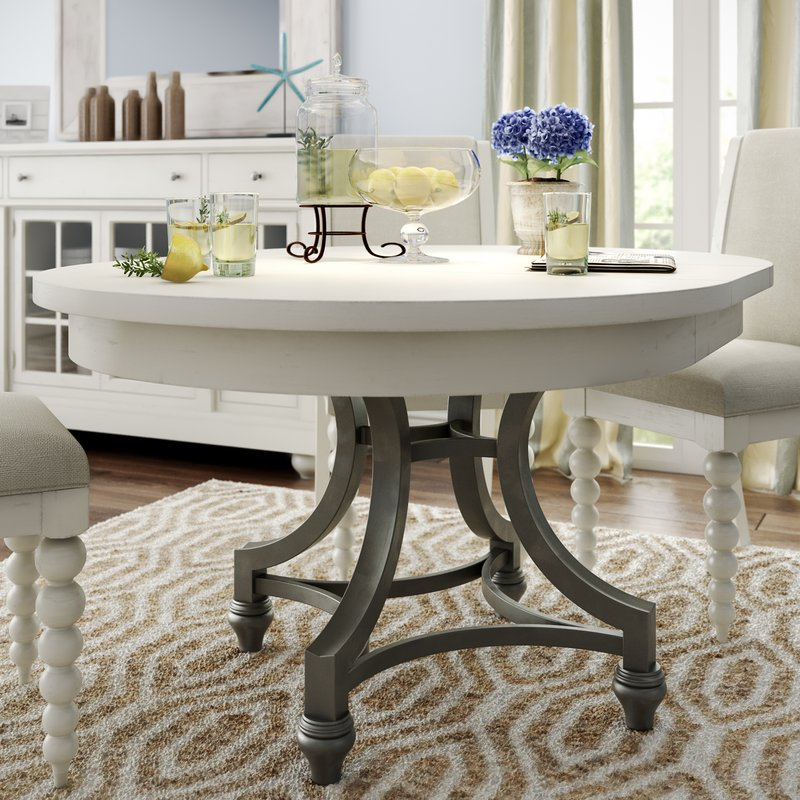 round dining table saguenay extendable dining table DIVWZMF