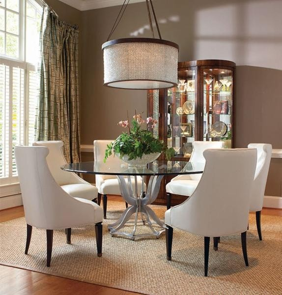 round glass dining room table sets ZWSOZRU