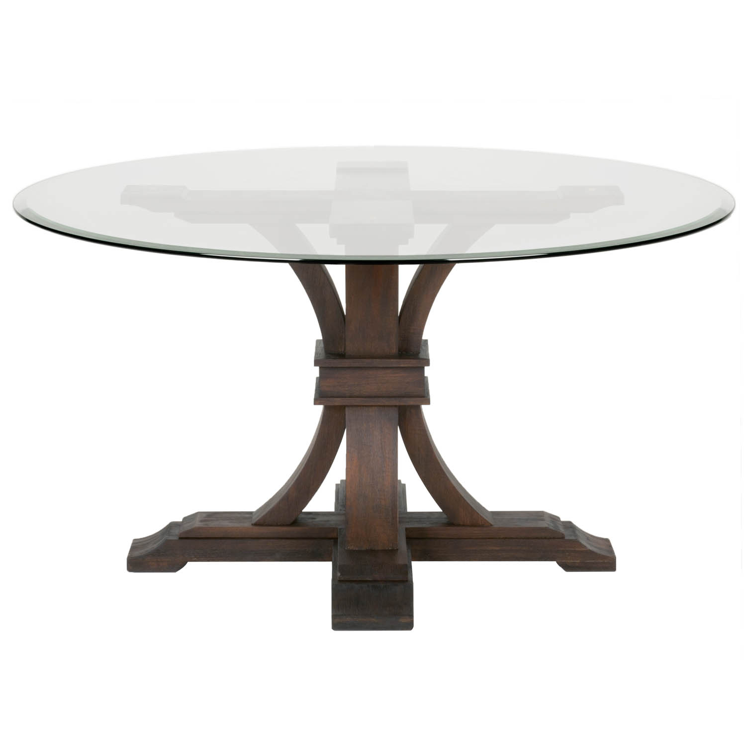 round glass dining table devon 54 YKIWENT