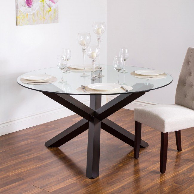 round glass dining table ksp kona u0027roundu0027 glass dining table ... HWSULEV