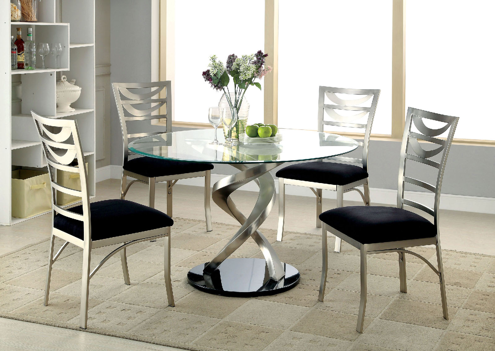 round glass dining table roxo glass dining table KZBOXNJ