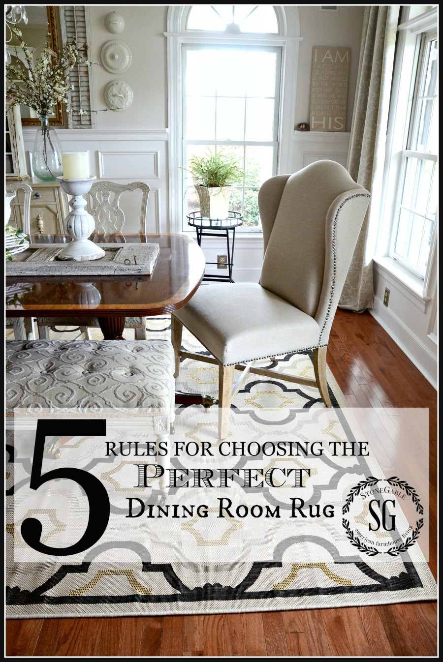 round rug under dining table 5 rules for choosing the perfect dining room rug-no nonsense, sensibe AOUSXIR