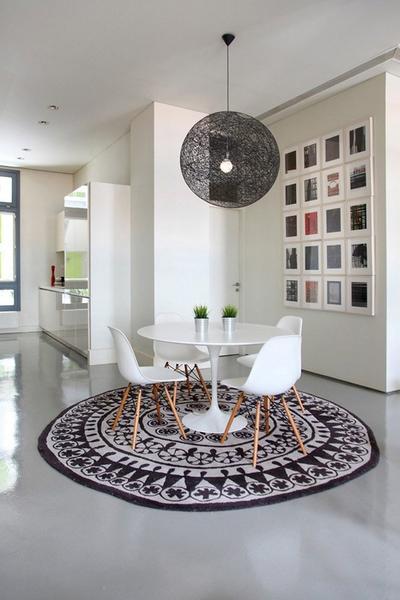 round rug under dining table dining room NOKSHXG