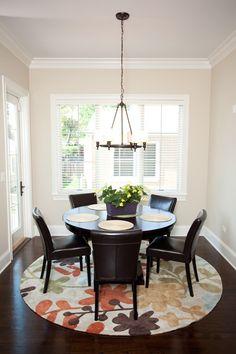Round Rug Under Dining Table Rug Under Round Kitchen Table Stunning