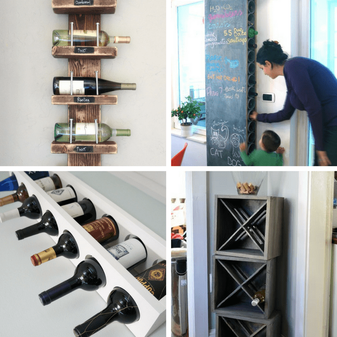 roundup of 24 awesome diy wine racks you can make -- DBQBNEP