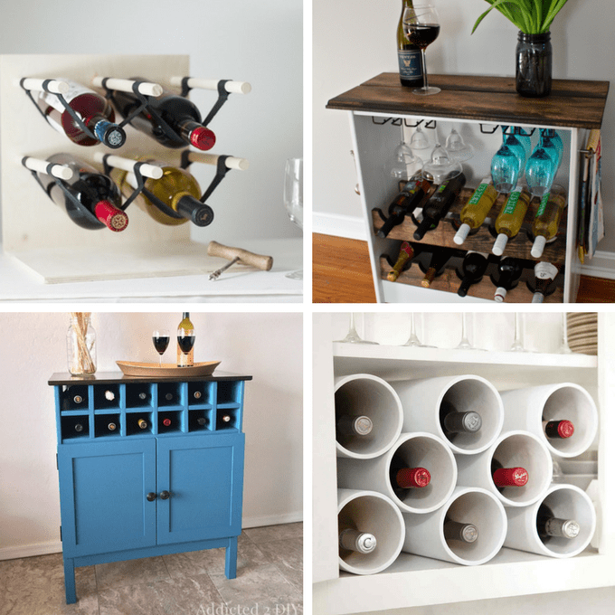 roundup of 24 awesome diy wine racks you can make -- GDBMRTK