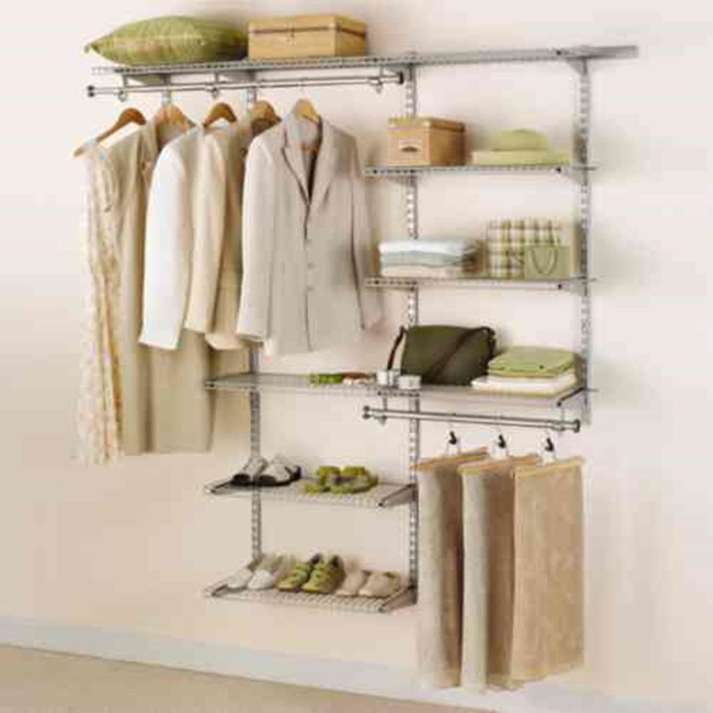 rubbermaid closet rubbermaid configurations 3 ft. d x 6 ft. w titanium metal UQDYDKT