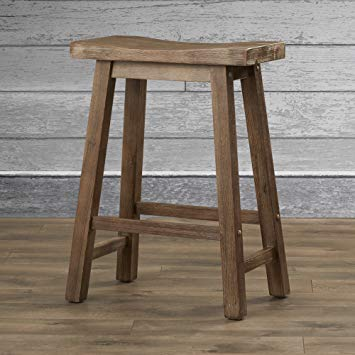 rustic bar stools amazon.com: rustic bar stool 24 inches - contemporary weathered finish ENTWOVL
