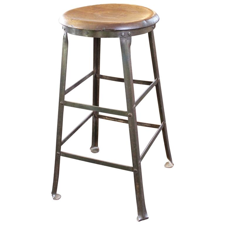 rustic bar stools rustic bar stool backless kitchen wood and metal bar stool for FDYMXXA
