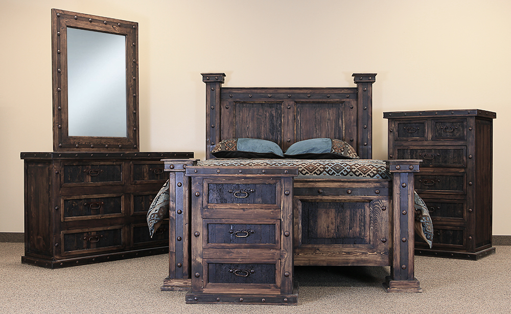 Exceptionnel Rustic Bedroom Furniture El Paso Rustic Bedroom Set JHIVXBF
