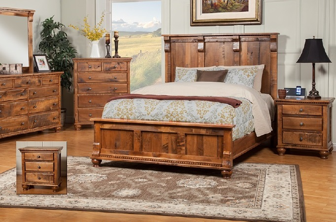 rustic bedroom furniture solid wood sahuaro reclaimed wood set YTKYKHL