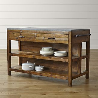 rustic furniture bluestone reclaimed wood kitchen island YFXYSND