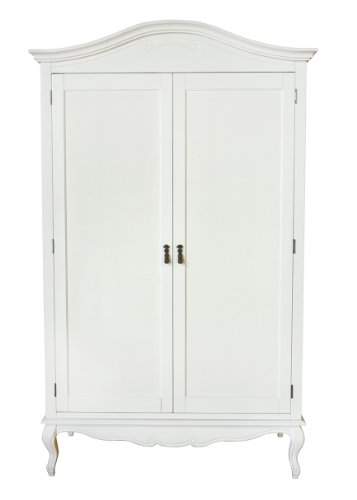 shabby chic wardrobe juliette shabby chic antique white double wardrobe. stunning spacious white DANLXQD